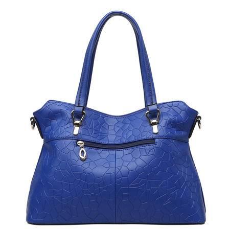 金狐狸品牌2015新款牛皮女包石头纹手提包欧美时尚单肩斜挎包包女士包大包