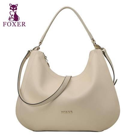 金狐狸品牌包包2015新款牛皮女包时尚潮流手提斜跨包新月包水饺包