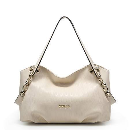 金狐狸包包2015新款 欧美时尚潮流女包 牛皮女式包手提单肩包大包