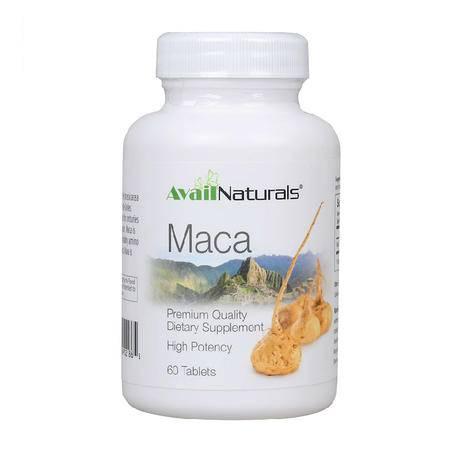 美国Avail Naturals秘鲁黑玛卡精片60片玛咖 男性保健补肾抗疲劳