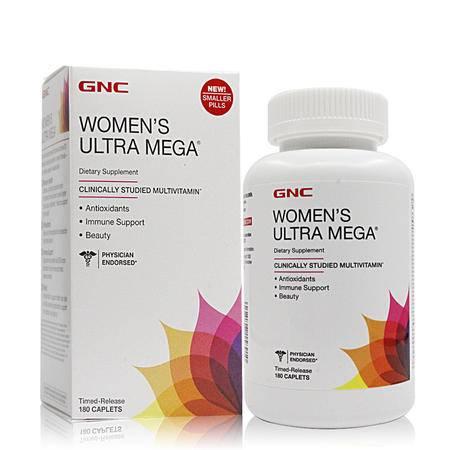 【海外购】【包邮包税】美国健安喜GNC女性多种维生素矿物质片180粒