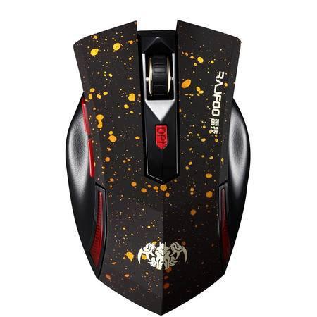 RAJFOO/雷技 鼠标 铠甲G5 无线鼠标 游戏/笔记本/电脑 USB鼠标 省电 炫酷 加重 变速