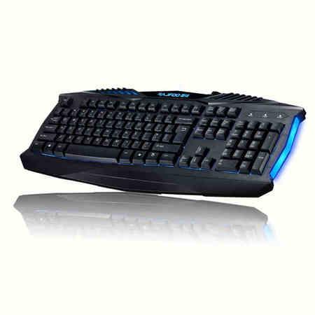 RAJFOO/雷技 键盘 X-MAN 背光键盘 笔记本/台式电脑适用 USB接口 游戏发光键盘