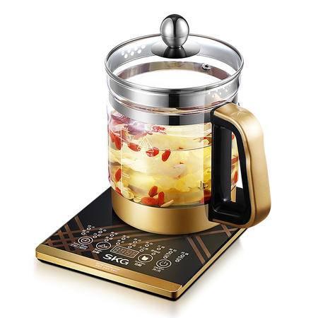 SKG 养生壶 8049 加厚玻璃花茶壶体 多功能中药壶 分体煎药壶 电煮茶壶器煲1.5L
