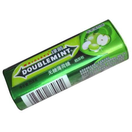 绿箭薄荷糖青苹果口味35粒铁罐装 23.8G