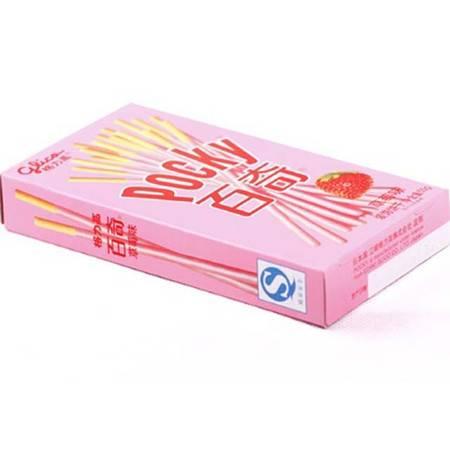 格力高百奇草莓味涂层饼干55G*36  整箱销售