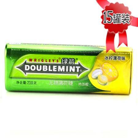 绿箭薄荷糖冰柠薄荷口味35粒铁罐装*15