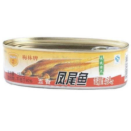 梅林五香凤尾鱼184G