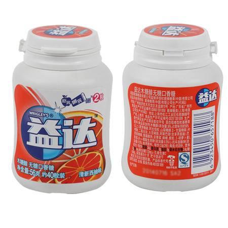益达木糖醇新鲜西柚40粒瓶装*6