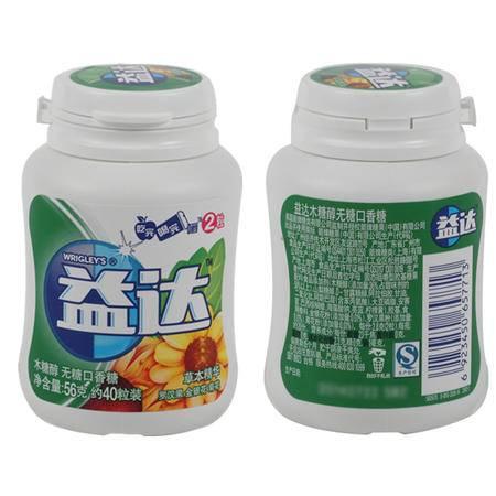 益达木糖醇草本精华40粒瓶装*6