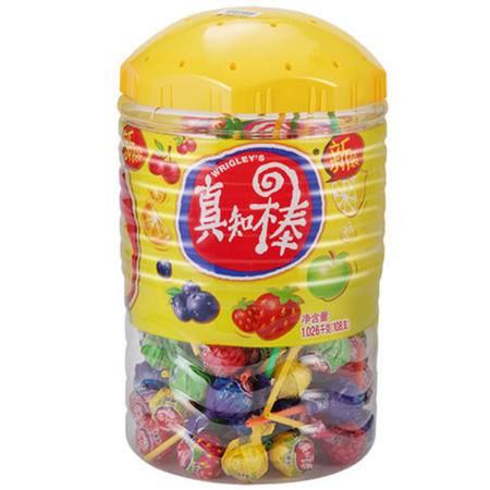 真知棒水果味棒棒糖108支超大桶装礼盒 婚庆分享糖果