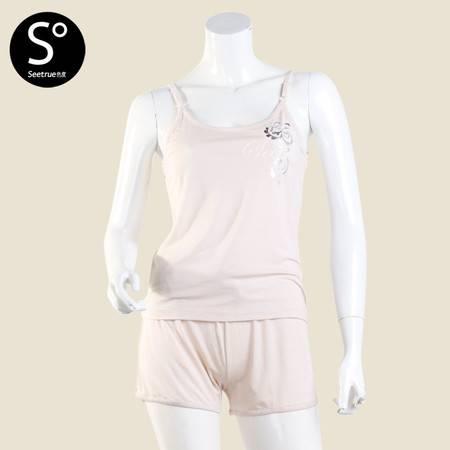 色度 女式吊带短裤家居套装 4226032