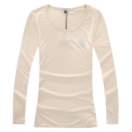 色度 正品专卖 女式莫代尔大圆领印花长袖T恤 4227012