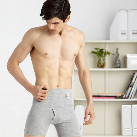 宜而爽 专柜正品全棉男罗纹平口裤   CL814N