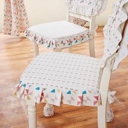 Cozzylife蔻姿 棉质加厚布艺印花椅垫 椅背套  2只装 多色可选