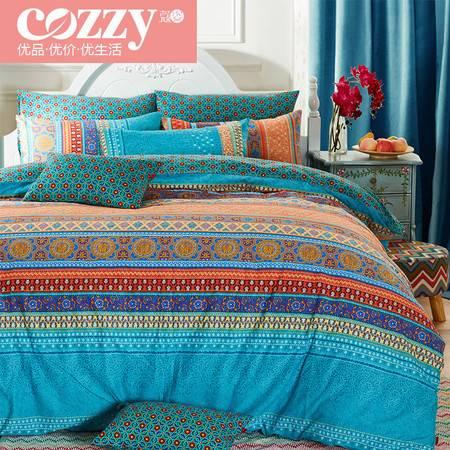 cozzy蔻姿 2016新款秋冬全棉加厚磨毛床上用品四件套1.8m双人床