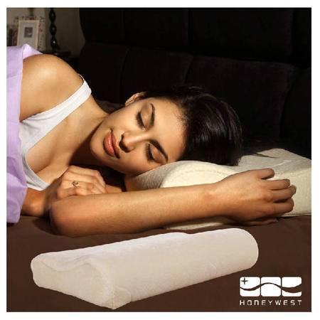 【国庆大放价】HONEYWEST汉妮威 家纺 记忆棉颈椎保健枕头 会呼吸护颈B形枕