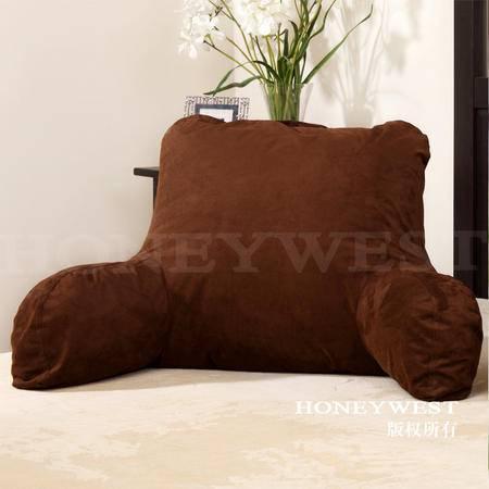专柜正品授权汉妮威PP棉扶手靠垫沙发大抱枕靠枕软包床上大靠背
