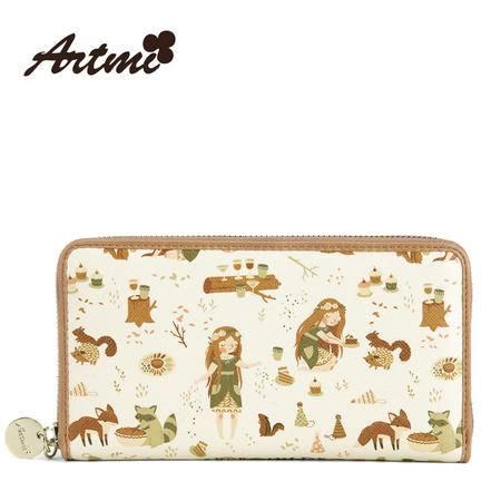 Artmi阿特密夏季新款 甜美可爱淑女潮流时尚长款钱包女包APQ0307
