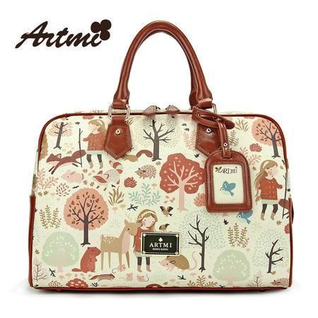 Artmi新款 复古潮流甜美可爱旅行旅游包女大包手提包APT0344