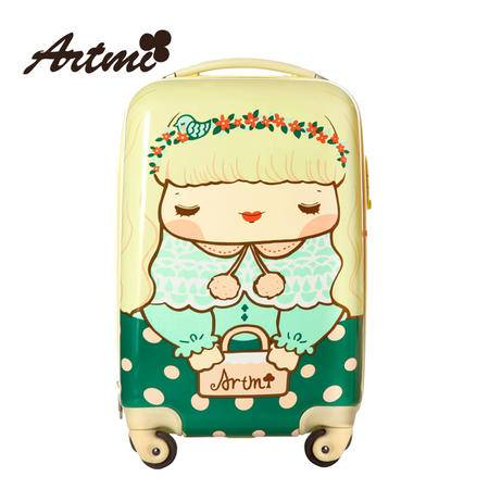 Artmi 小清新旅行箱卡通拉杆箱女行李箱万向轮登机箱包ADX0001