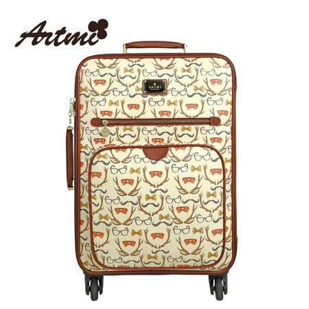 Artmi新品 卡通旅行箱包万向轮拉杆女行李箱登机箱子AVX0001