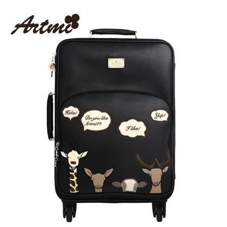 Artmi新品 复古旅行箱拉杆箱行李箱子登机箱可爱AZX0002