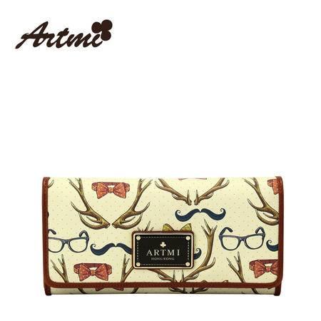 Artmi春季新品 复古甜美可爱长款钱包零钱包潮流时尚包女APQ0578