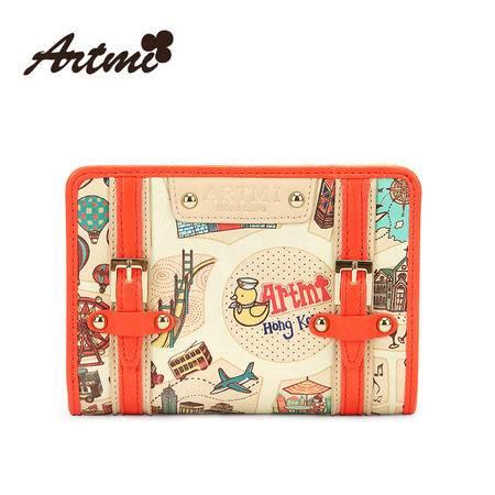 正品Artmi新款 俏皮可爱卡通女士钱包短款日韩时尚女包潮APQ0764