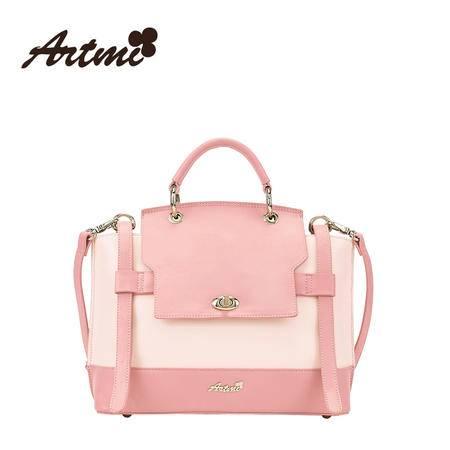 正品Artmi新款 休闲时尚甜美撞色单肩斜挎包可爱通勤包包APF0846