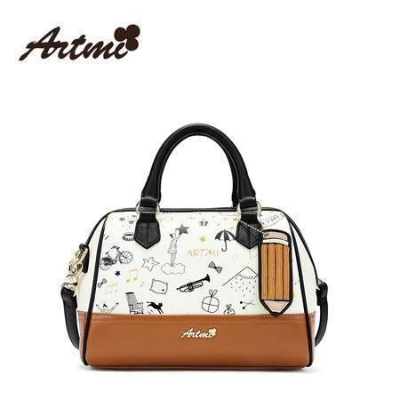 正品Artmi新款 时尚斜挎包女可爱卡通子母包休闲手提包女APF0914