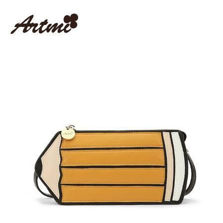 正品Artmi新款 可爱铅笔包包女休闲街头潮流单肩斜跨包女APE0870