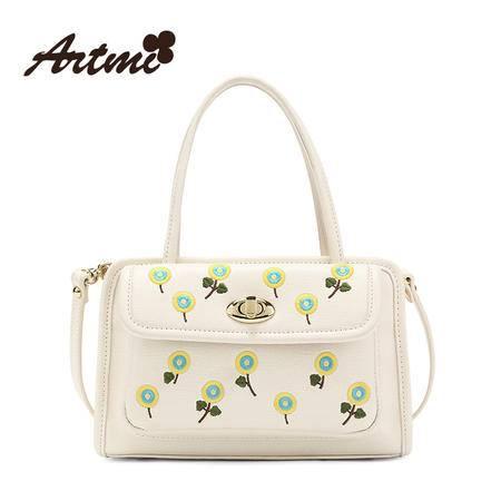 正品Artmi新款 时尚花朵单肩包女清新斜挎包可爱手提包潮APE0856
