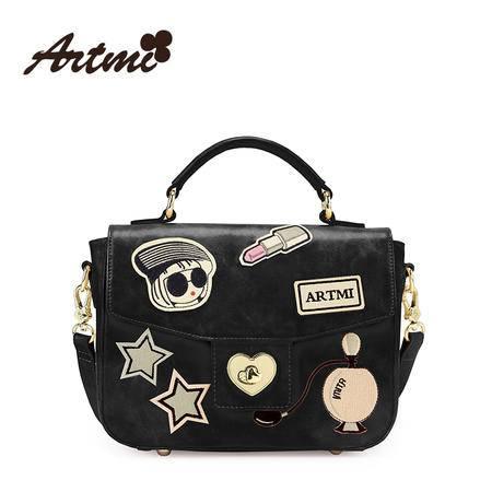 正品Artmi新款 欧美时尚邮差包休闲潮酷单肩手提包包女APE0839