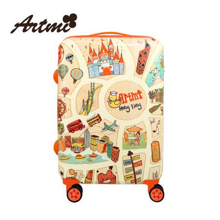 正品Artmi新品 可爱旅行箱拉杆箱行李箱登机箱万向轮时尚ADX0011