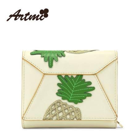 正品Artmi新款 休闲街头时尚短款钱包撞色拼贴水果卡包APQ0851