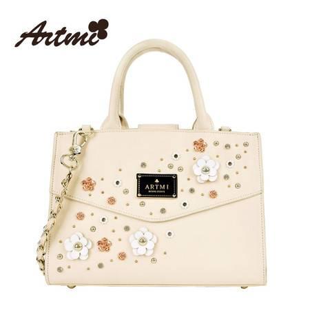 正品Artmi新款 时尚铆钉手提包女清新花朵单肩斜挎包潮APF0840