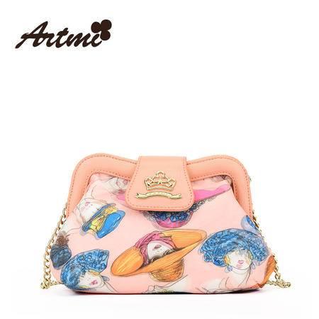 正品Artmi阿特密新款 甜美可爱化妆包包马卡龙斜挎包女潮AXE0942