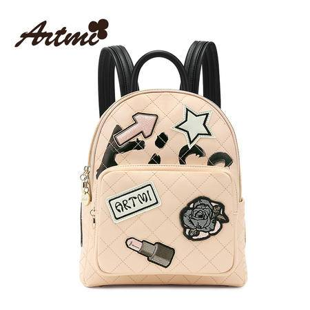 正品Artmi阿特密新款 时尚刺绣双肩包女小巧休闲韩版背包APM0857