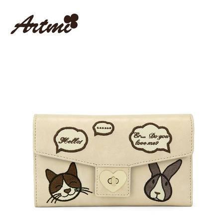 正品Artmi新款 韩版潮女士长款钱包简约彩色零钱包手拿包APQ0950