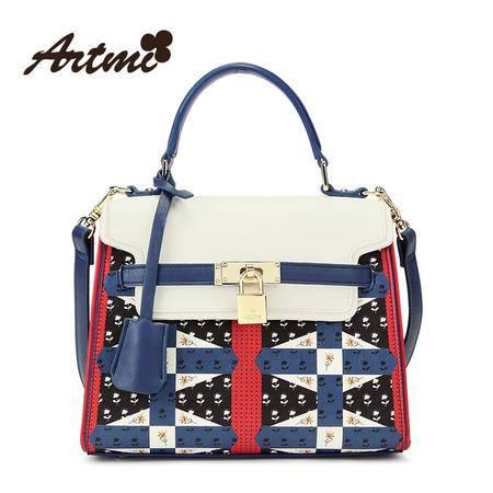 正品Artmi新款 欧美简约手提包时尚单肩女包潮英伦凯利包APF0925
