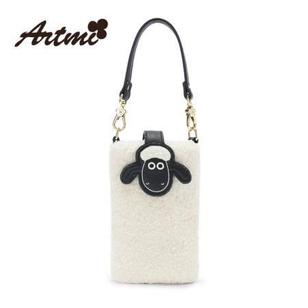 正品Artmi新款 日韩卡通手机袋女潮羊咩童趣零钱小包潮AMP1131