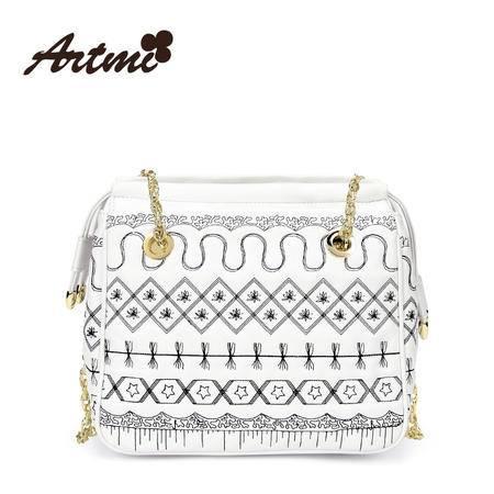 正品Artmi新款 日韩时尚链条单肩包手提包甜美淑女水桶包APF0979