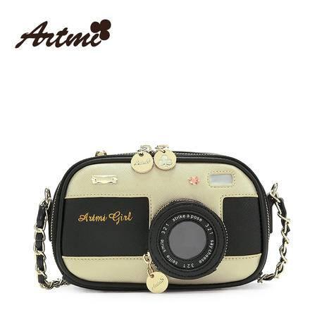 正品Artmi新款 日韩时尚链条包女趣味相机斜挎包精致小包APE0992