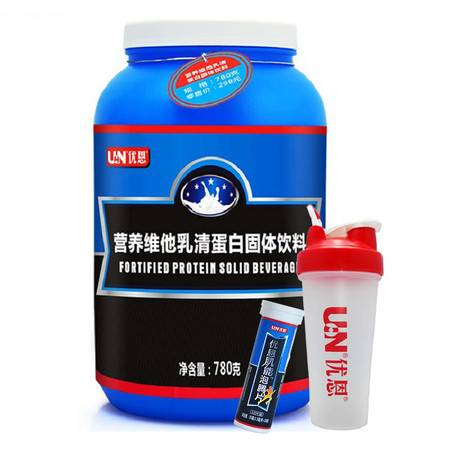 UN/优恩 乳清蛋白粉780克 升级版 蛋白质粉 增肌健肌粉