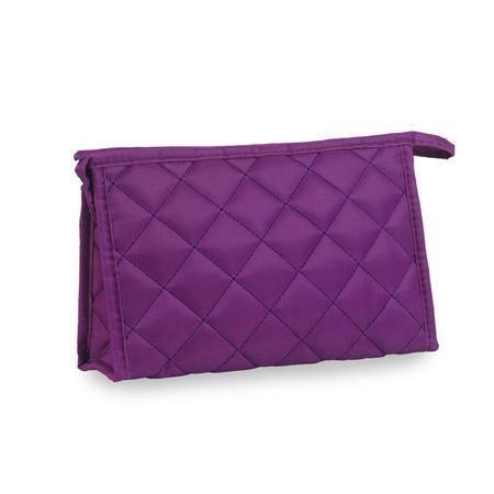 凯铂瑞韩版菱格化妆包可爱旅行化妆袋收纳包大容量手拿包 大号