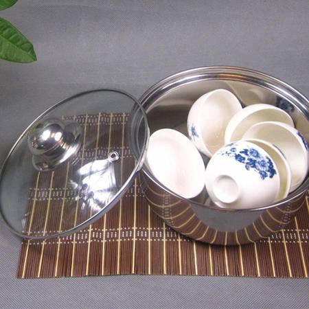 创捷 茶盘茶炉自动电动加水器茶系例茶具专用配件不锈钢消毒盆 消毒锅