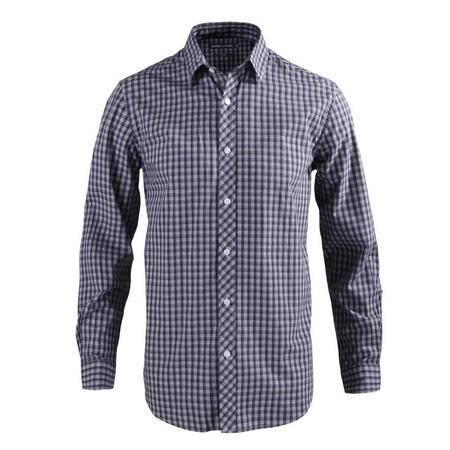 占姆士2016新款男士休闲纯棉长袖格子衬衫