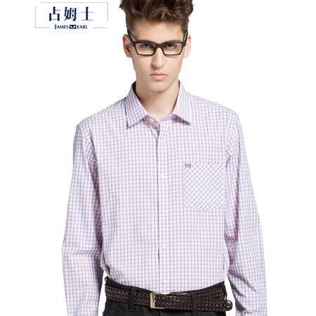 占姆士男士春秋新款正装条纹衬衣职业商务休闲长袖衬衫DA162029418