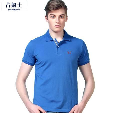 占姆士 2016夏季男士短袖t恤翻领POLO衫棉体恤薄款打底衫
